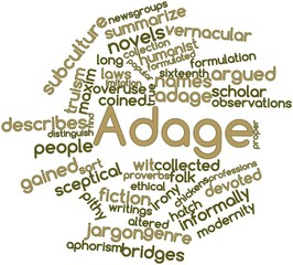Word cloud for Adage