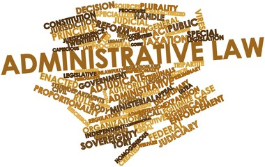 Word cloud for Administrative law