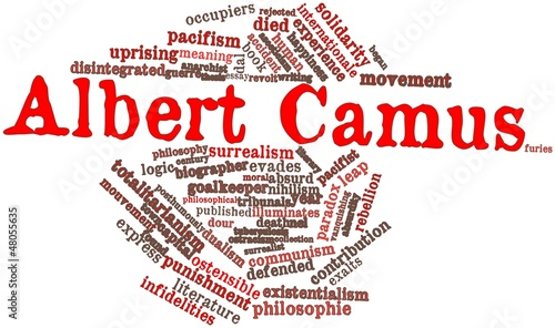 Word cloud for Albert Camus