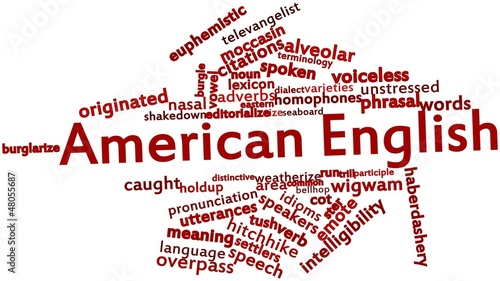 Word cloud for American English