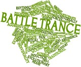 Word cloud for Battle trance poster