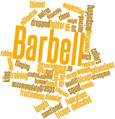 Word cloud for Barbell