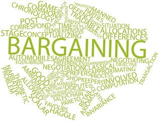 Word cloud for Bargaining