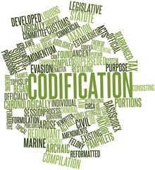 Word cloud for Codification