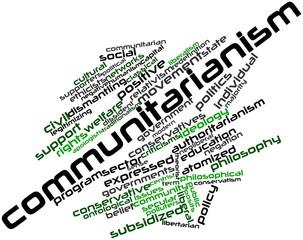 Word cloud for Communitarianism