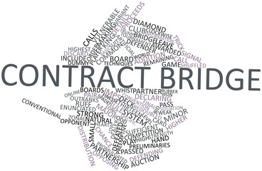 Word cloud for Contract bridge