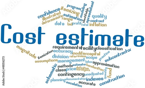 Word cloud for Cost estimate