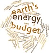 Word cloud for Earth's energy budget