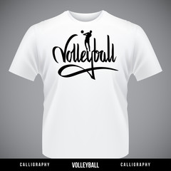 Volleyball hand lettering - handmade calligraphy