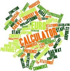 Word cloud for Euro calculator