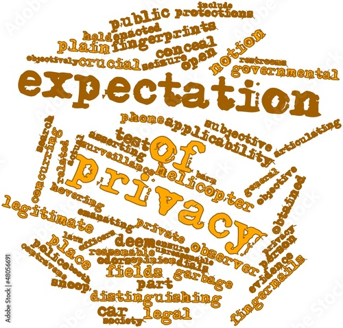 Word cloud for Expectation of privacy