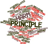 Word cloud for Harm principle poster
