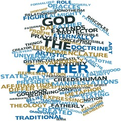 Word cloud for God the Father
