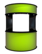 green plastic counter