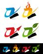 Swoosh Alphabet Icons Z