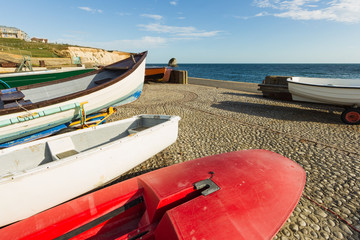 Wooden boats at the seaside