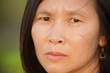 Worried asian woman
