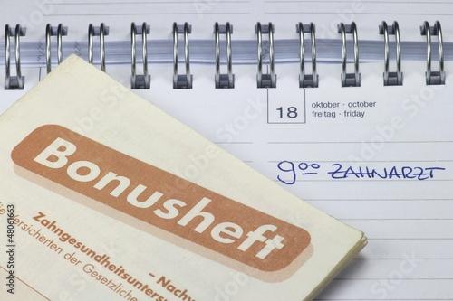 Termineintrag 'Zahnarzt' im Kalender mit Bonusheft - 48061663