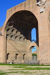 Basilica di Massenzio - Nicchione della Navata Nord