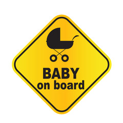 Baby on board sign vector illustration