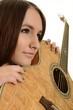 femme et guitare