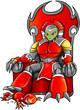 Alien Warlord on Throne Vector Art