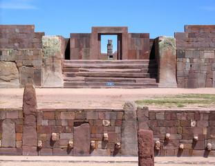 Bolivia, Tiwanaku ruins, Kalasasaya & lower temples