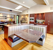 Luxury mahogany Kitchen with modern furniture.