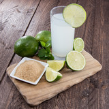 Lime Juice on wood