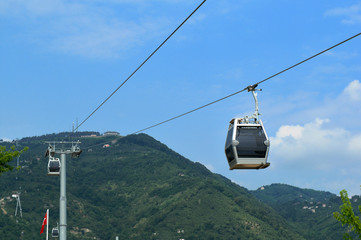 Cable cars in Ordu, Turkey