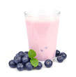 Fresh blueberries fruits and smoothies