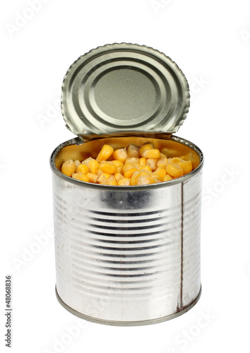 Corn in tin