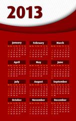 Red 3d 2013 calendar