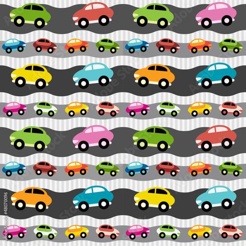 Foto op Plexiglas Op straat Background with cars