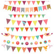 Bunting And Garland Set Isolat...