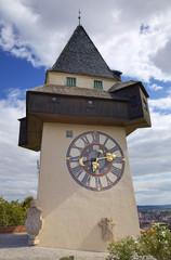 Clock Tower in Schlossberg. Graz, Austria