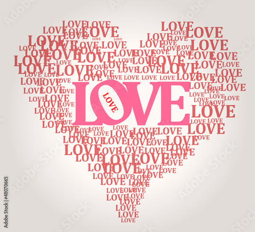 Love and heart, vector illustration