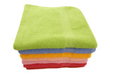 towels, isolated on a white background