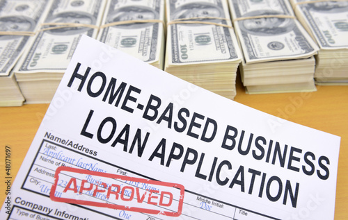 Approved home-based business loan application