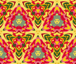 Vector seamless colorful decorative pattern. Kaleidoscope