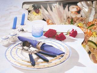 sea food on a platter
