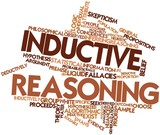 Word cloud for Inductive reasoning poster