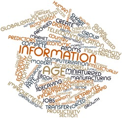 Word cloud for Information Age