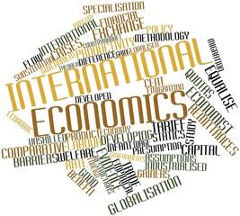 Word cloud for International economics