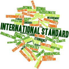 Word cloud for International standard