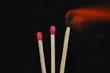 brennende Streichhölzer 1