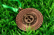 Bronze medal on grass background