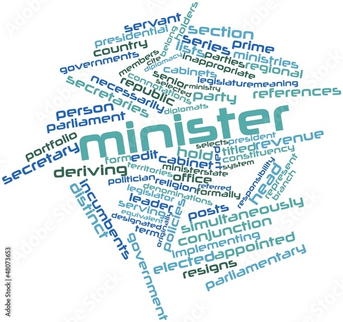 Word cloud for Minister