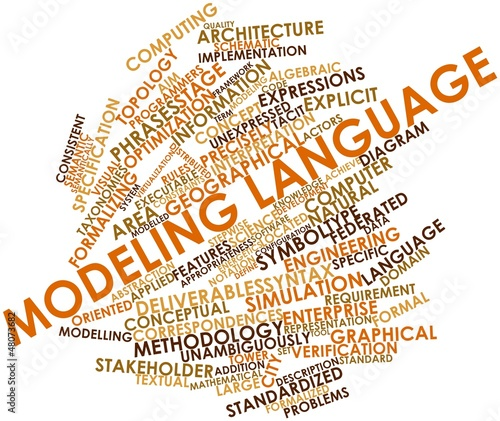 Word cloud for Modeling language