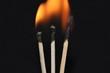 brennende Strichhölzer 3